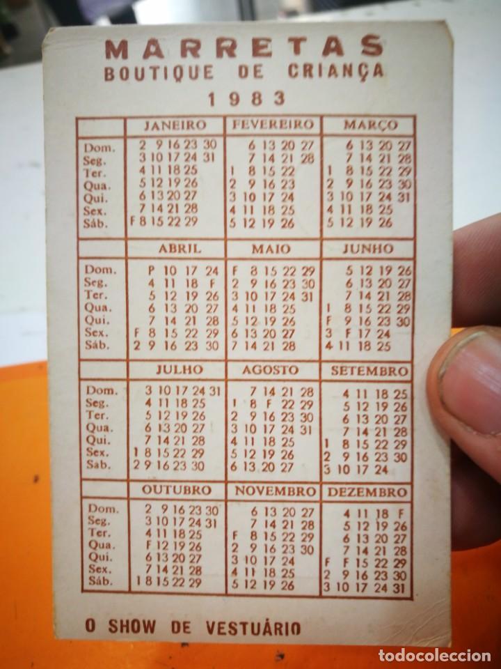 Coleccionismo Calendarios: Calendario MARRETAS BOUTIQUE DE CRIANCA 1983 - Foto 2 - 168343008