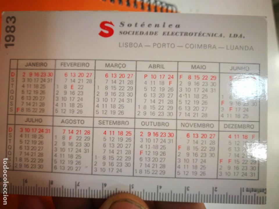Coleccionismo Calendarios: Calendario SOTECNICA SOCIEDADE ELECTRONICA LDA 1983 - Foto 2 - 168349500