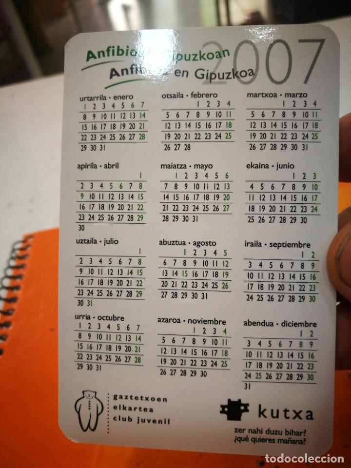 Coleccionismo Calendarios: Calendario KUTXA ANFIBIOS EN GIPUZKOA 2007 - Foto 2 - 168349656
