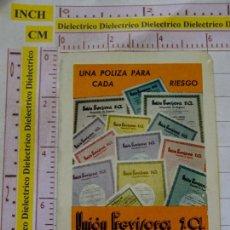 Coleccionismo Calendarios: CALENDARIO DE BOLSILLO FOURNIER. AÑO 1967. UNIÓN PREVISORA SEGUROS. Lote 168483760