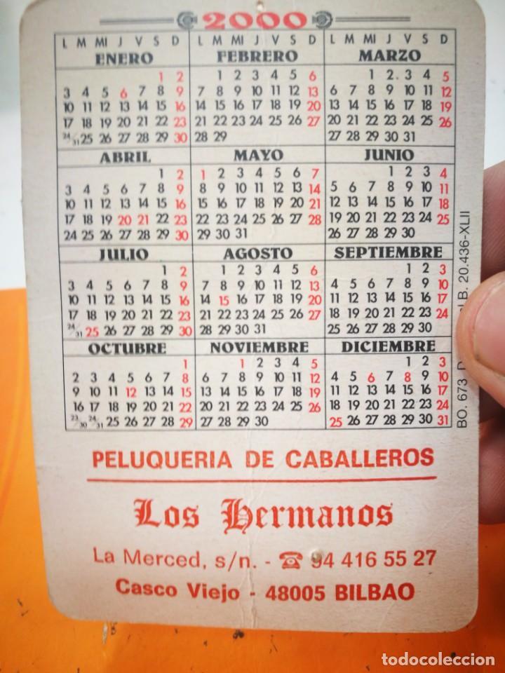 Coleccionismo Calendarios: Calendario ATHLETIC BILBAO 2000 (tiene dos agujeros de alfiler) - Foto 2 - 168562540