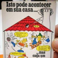 Coleccionismo Calendarios: CALENDARIO CORRETORES DE SEGUROS PORTO 1987. Lote 168682128