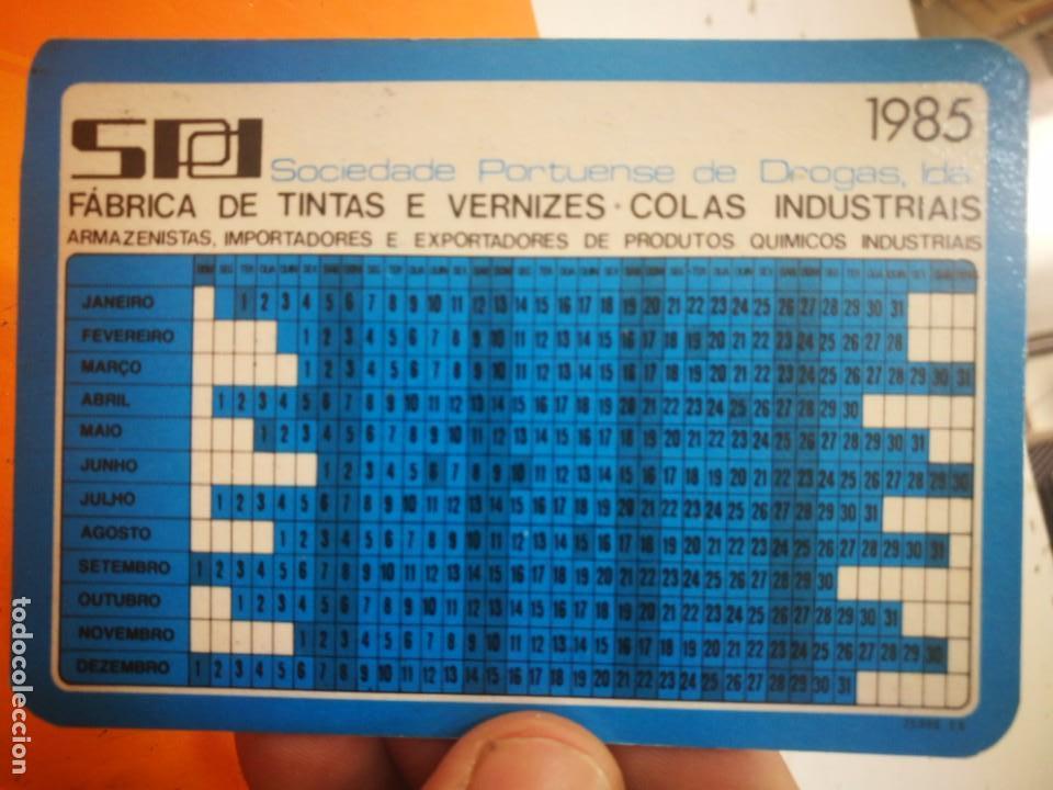 Coleccionismo Calendarios: Calendario SPD SOCIEDADE PORTUENSE DE DROGAS 1985 - Foto 2 - 168690832