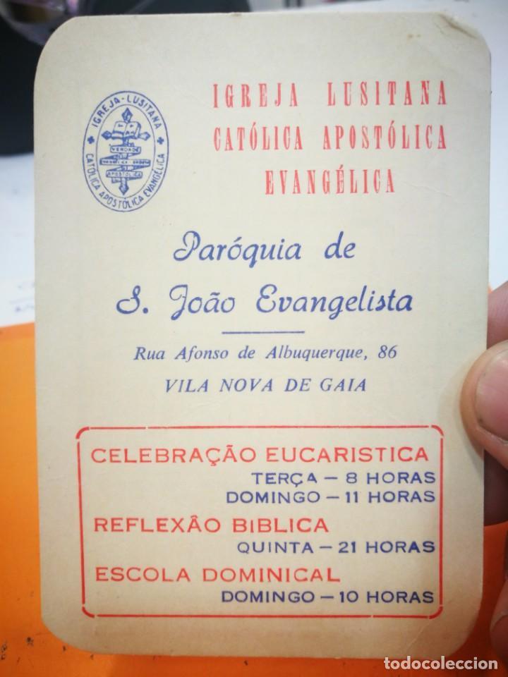 CALENDARIO IGREJA LUSITANA CATÓLICA APOSTÓLICA EVANGÉLICA 1984 (Coleccionismo - Calendarios)