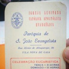 Coleccionismo Calendarios: CALENDARIO IGREJA LUSITANA CATÓLICA APOSTÓLICA EVANGÉLICA 1984. Lote 168695748