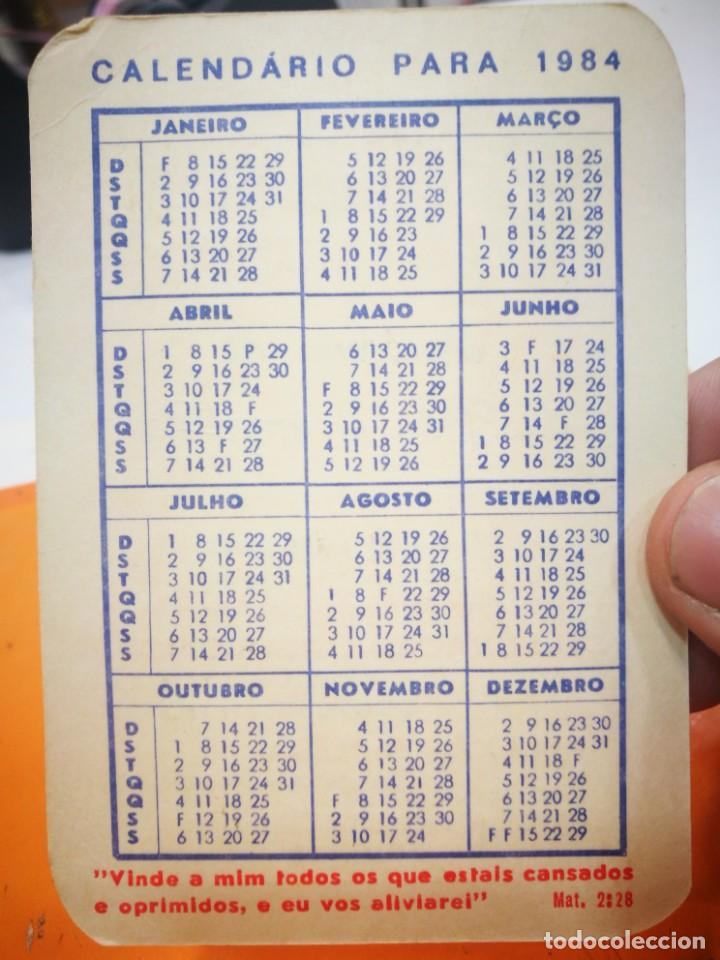 Coleccionismo Calendarios: Calendario IGREJA LUSITANA CATÓLICA APOSTÓLICA EVANGÉLICA 1984 - Foto 2 - 168695748