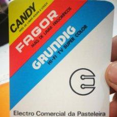 Coleccionismo Calendarios: CALENDARIO CANDY FAGOR GRUNDIG LUCIO ALVES DE CARVALHO 1984. Lote 168697056