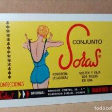Coleccionismo Calendarios: CALENDARIO DE BOLSILLO - PUBLICIDAD SORAS - SOSTÉN Y FAJAS - FOURNIER - (1967) - REF: 0022. Lote 168746764
