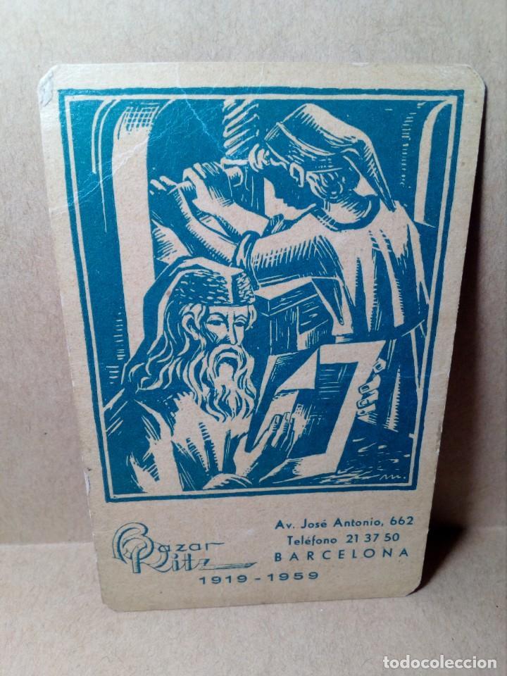 CALENDARIO DE BOLSILLO - PAPELERÍA E IMPRENTA BAZAR RITZ - BARCELONA - (1959) - REF: 0022 (Coleccionismo - Calendarios)