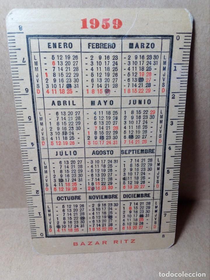 Coleccionismo Calendarios: CALENDARIO DE BOLSILLO - PAPELERÍA E IMPRENTA BAZAR RITZ - BARCELONA - (1959) - REF: 0022 - Foto 2 - 168747452