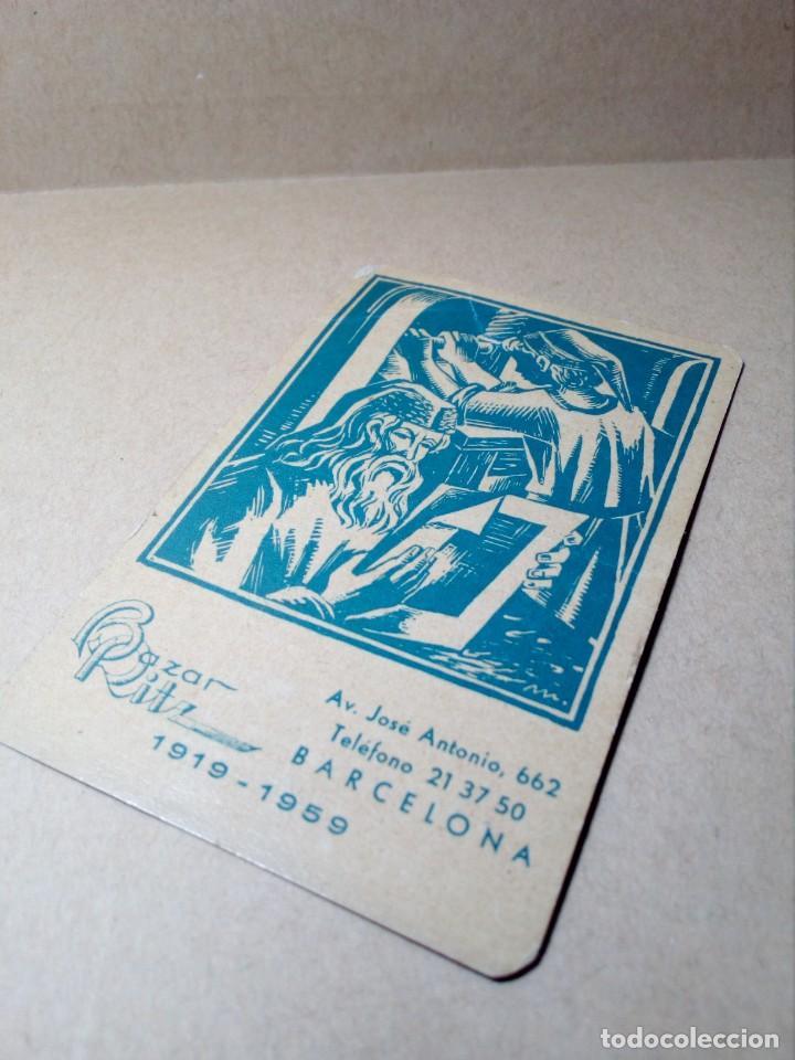 Coleccionismo Calendarios: CALENDARIO DE BOLSILLO - PAPELERÍA E IMPRENTA BAZAR RITZ - BARCELONA - (1959) - REF: 0022 - Foto 4 - 168747452