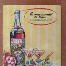 Coleccionismo Calendarios: CALENDARIO TROFEO MARTINI ROSSI TEMPORADA 1952-1953 7,5 X 10 CM (APROX) BARCELONA. Lote 169269748