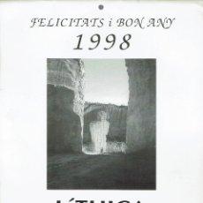 Coleccionismo Calendarios: CALENDARIO LÍTHICA. FELICITATS I BON ANY NOU. 1998. (MENORCA.3.4). Lote 169309680