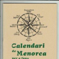 Coleccionismo Calendarios: CALENDARI DE MENORCA PER A L'ANY 1983. (MENORCA.3.4). Lote 169415976