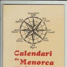Coleccionismo Calendarios: CALENDARI DE MENORCA PER A L'ANY 1982. (MENORCA.3.4). Lote 169416076