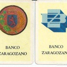Coleccionismo Calendarios: 2 CALENDARIOS FOURNIER 1977 - 1978 - BANCO ZARAGOZANO. Lote 169471648