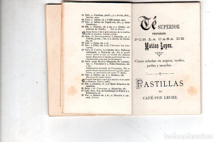 Coleccionismo Calendarios: ALMANAQUE OBISPADO DE CADIZ 1882. CONFITERIA EMILIO DE LUEGE. CADIZ. CHOCOLATE. MATIAS LOPEZ. LEER. - Foto 6 - 169492200