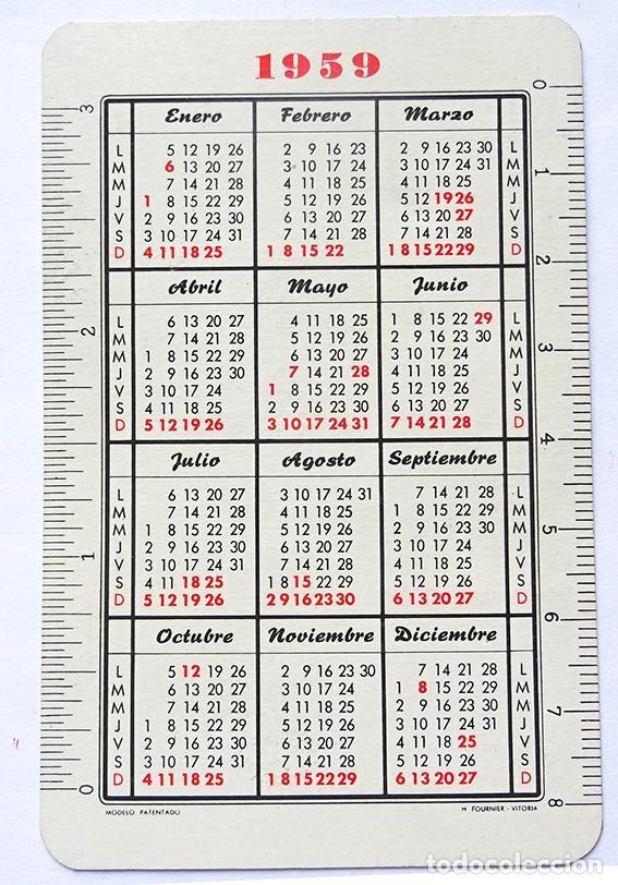 Coleccionismo Calendarios: calendario fournier, caja de ahorros de asturias 1959 - Foto 2 - 169569656