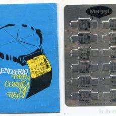 Coleccionismo Calendarios: CALENDARIO METÁLICO PARA RELOJ, PUBLICIDAD DE MAGGI 1982. Lote 169661836
