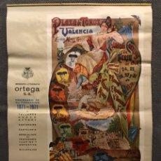 Coleccionismo Calendarios: CALENDARIO ALMANAQUE. TAURINO 5 LÁMINAS. EDITA: IMPR. LITOGRAFÍA ORTEGA (A.1971). Lote 169829914