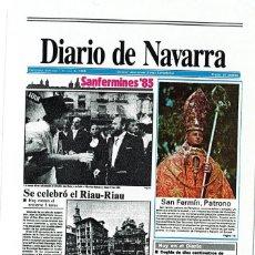 Coleccionismo Calendarios: CALENDARIO FOURNIER - DIARIO DE NAVARRA 1986. Lote 169850596