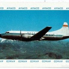 Coleccionismo Calendarios: CALENDARIO FOURNIER - CIA. AEREA AVIACO (AVIONES) - AÑO 1963. Lote 169851280
