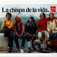 Coleccionismo Calendarios: CALENDARIO FOURNIER - COCA COLA - AÑO 1977 LA CHISPA DE LA VIDA. Lote 169865048