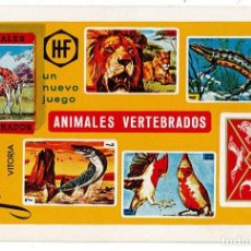 Coleccionismo Calendarios: CALENDARIO FOURNIER - ANIMALES VERTEBRADOS - AÑO 1969 . Lote 169865600