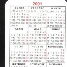 Coleccionismo Calendarios: TESORERÍA GENERAL DE LA SEGURIDAD SOCIAL. BASES DE COTIZACIÓN. CALENDARIO BOLSILLO 2001.. Lote 169908148