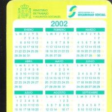 Coleccionismo Calendarios: INSTITUTO NACIONAL DE LA SEGURIDAD SOCIAL. PENSIONES 2002. CALENDARIO BOLSILLO 2002.. Lote 169908336