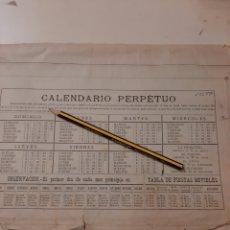 Coleccionismo Calendarios: CALENDARIO SECANTE PERPETUO. Lote 170341110