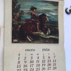 Coleccionismo Calendarios: CALENDARIO DE 1956 VELAZQUEZ/ PHILIPS - 13 LÁMINAS DE PINTURAS DE VELAZQUEZ - MEDIDAS 60X38 CM.. Lote 170486508