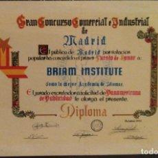 Coleccionismo Calendarios: AÑO 1960. CALENDARIO FOURNIER DE BRIAM INSTITUTE.. Lote 170224148