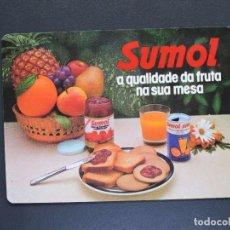 Coleccionismo Calendarios: CALENDARIO BOLSILLO PORTUGAL - SUMOL - AÑO 1985. Lote 170706210