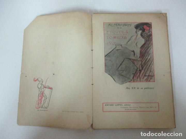 Coleccionismo Calendarios: La Esquella de la Torratxa, Almanach 1908 - Antoni Lopez - Ed Llibería Espanyola - Foto 2 - 170854145