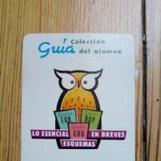 Coleccionismo Calendarios: CALENDARIO FOURNIER EDICIONES QUESADA CASTELLON 1988 EGB BUP COU ENSEÑANZA ALUMNO. Lote 171031369