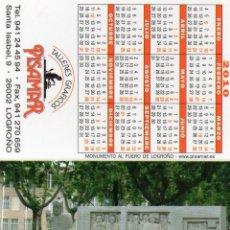 Coleccionismo Calendarios: CALENDARIO DE PUBLICIDAD 2010 TALLERES GRAFICOS - PISAMAR (DIPTICO). Lote 171195979