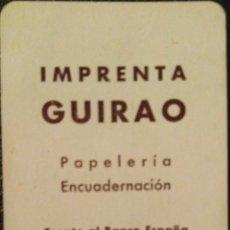 Coleccionismo Calendarios: FOURNIER 1960. CALENDARIO DE IMPRENTA GUIRAO.. Lote 171276564