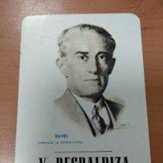 Coleccionismo Calendarios: CALENDARIO FOURNIER 1976, V. RESPALDIZA, CASA DE MUSICA DE MADRID. Lote 171281205