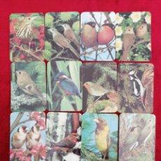 Coleccionismo Calendarios: LOTE DE 12 CALENDARIOS DE BOLSILLO DE PAJAROS. AÑO 1989. PORTUGAL.. Lote 171407743