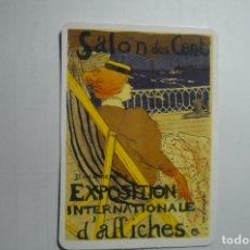 Coleccionismo Calendarios: CALENDARIO 2002 CARTEL SALON DES CENT EXPOS.INTERNAC.AFFICHES. Lote 171462217
