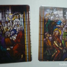 Coleccionismo Calendarios: LOTE CALENDARIOS EXTRANJEROS VIDRIERAS RELIGIOSAS 1993. Lote 171462343