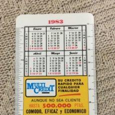 Coleccionismo Calendarios: CALENDARIO FOURNIER 1983. Lote 171556065