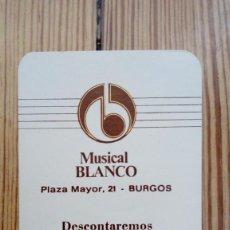 Coleccionismo Calendarios: CALENDARIO MUSICAL BLANCO BURGOS 1982 BURGOS DE SANTIAGO RODRIGUEZ. Lote 171807093