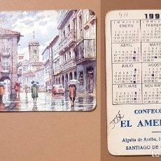 Coleccionismo Calendarios: CALENDARIO, PUBLICADO ESPAÑA - 1995 - CONFECCIONES EL AMERICANO - SANTIAGO DE COMPOSTELA. Lote 172392389