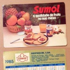 Coleccionismo Calendarios: CALENDARIO, PUBLICADO PORTUGAL - 1985 - SUMOL. Lote 172393342