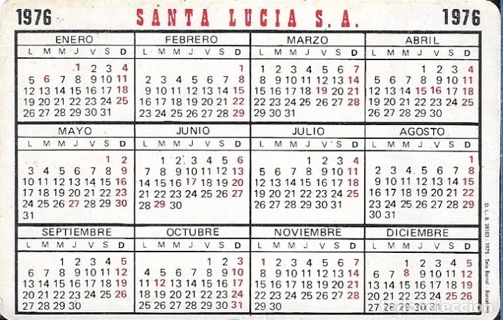 Calendario 1976.Calendario 1976 Santa Lucia Seguros