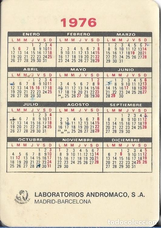 Calendario 1976.Calendario 1976 Cefasvelik 500 Laboratorios Andromaco Madrid Barcelona