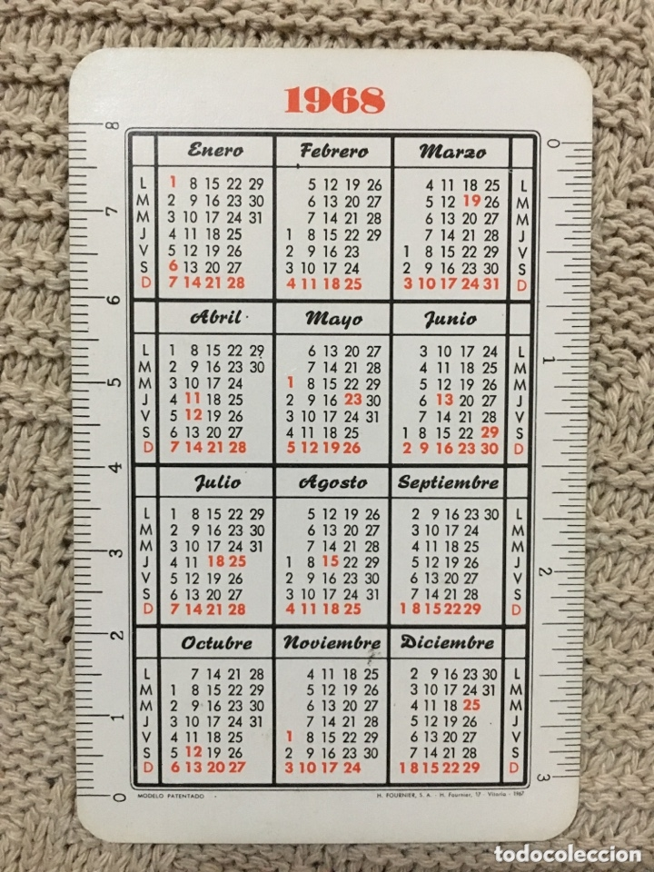 Coleccionismo Calendarios: calendario fournier 1968 - Foto 2 - 173057065