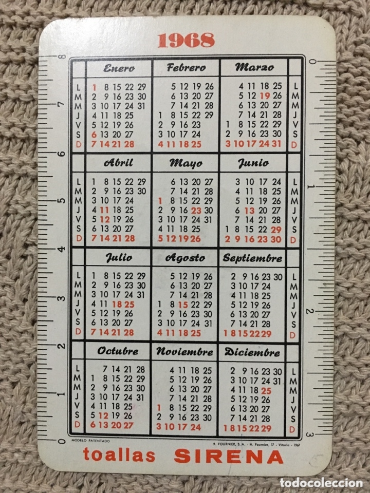 Coleccionismo Calendarios: calendario fournier 1968 - Foto 2 - 173057635